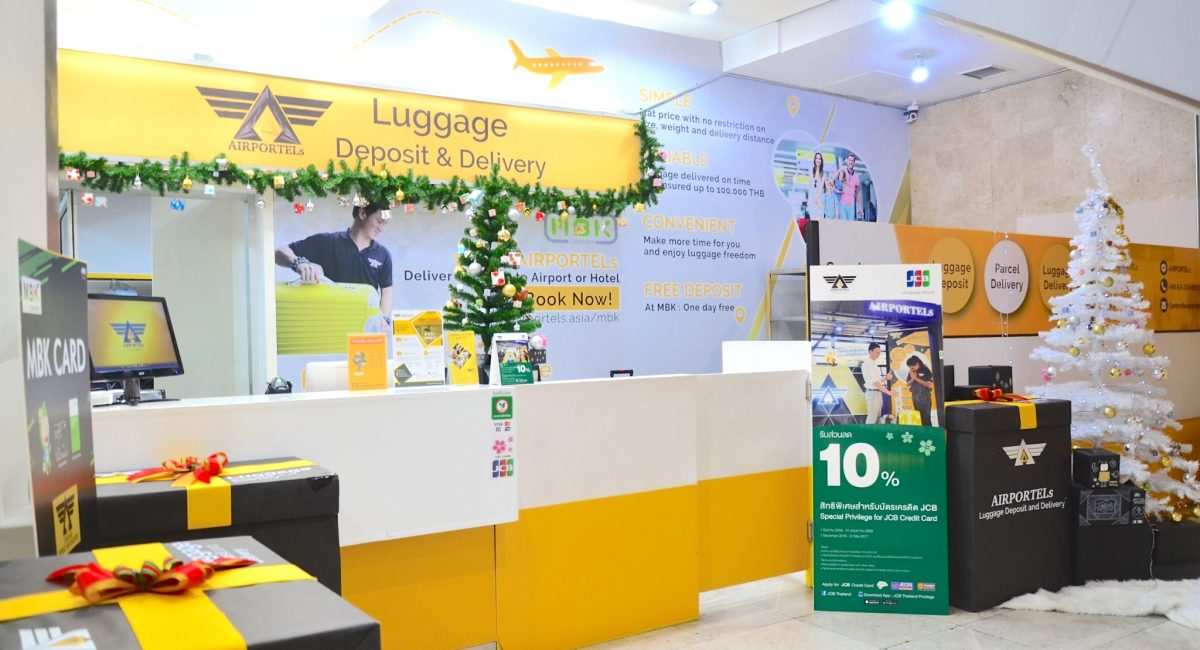 AIRPORTELs luggage storage and delivery at MBK Center