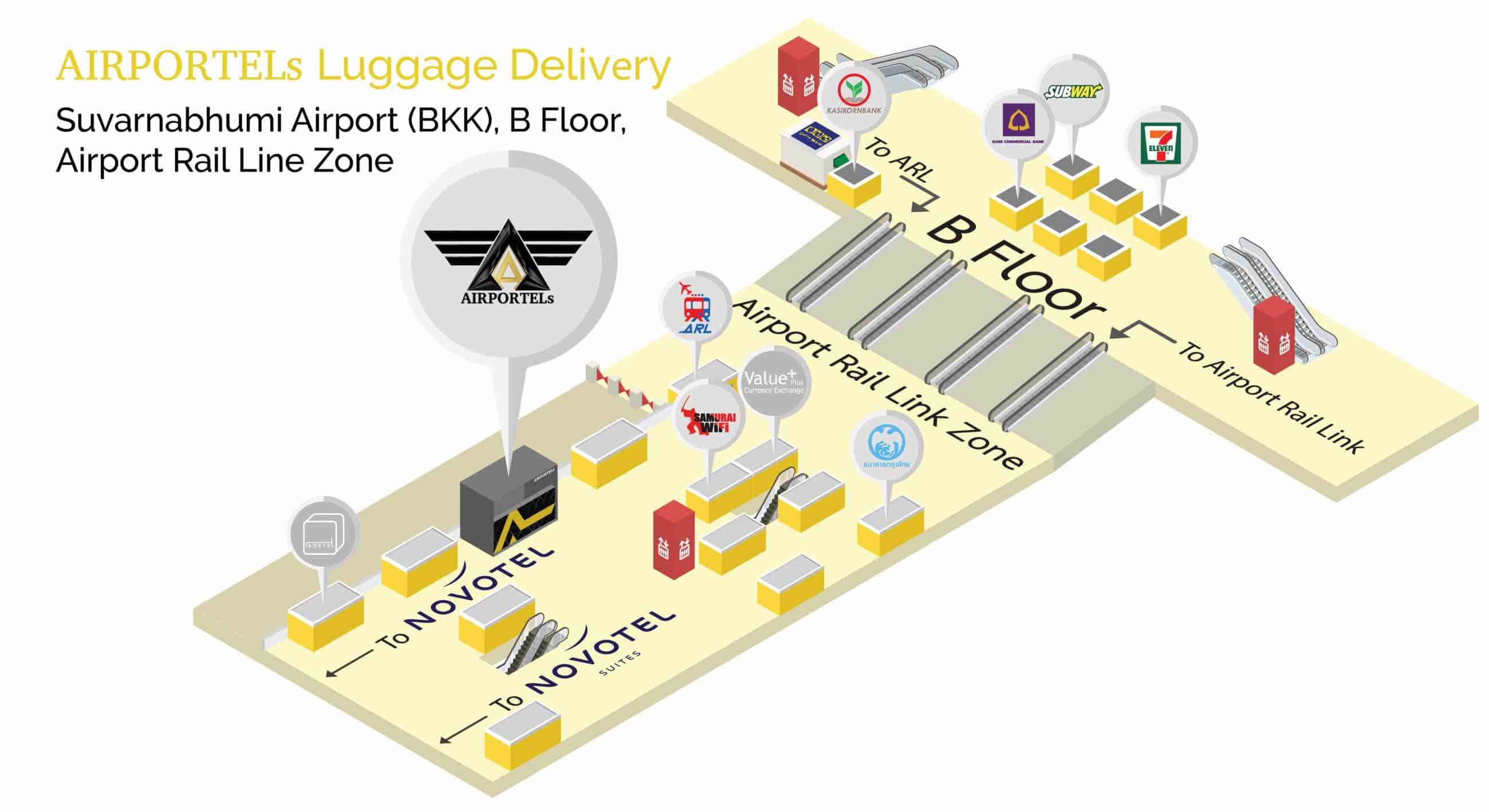 airportels,luggage storage,luggage storage bangkok