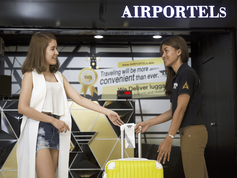 Airportels, luggage delivery, luggage storage