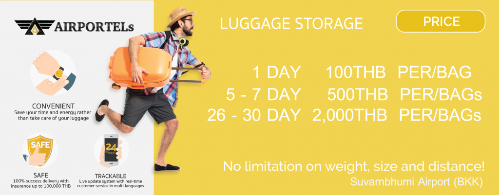 bangkok airport luggage storage