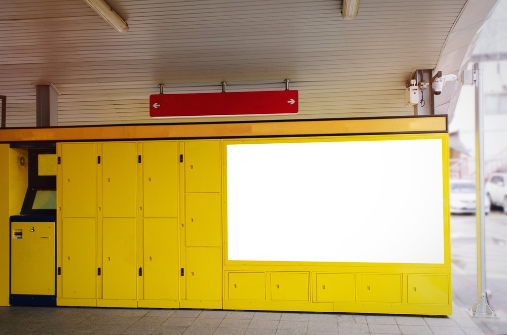 blank advertising billboard,Luggage Lockers